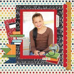 Single Photo BAck to School Scrapbook Layout 3