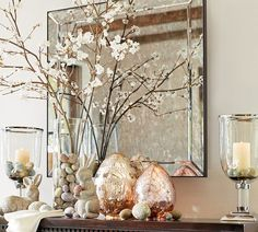 """""""Easter Decorating Inspiration with Mercury Eggs..."""" I absolutely Lve everything about this... Just Beautiful!!!"""