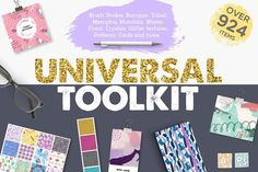 Universal Toolkit [924 items] by Julia Dreams on @creativemarket