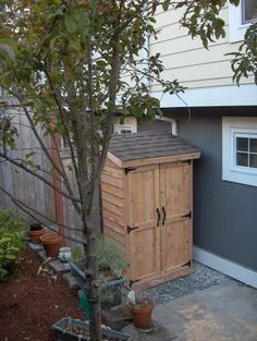 Mini Cedar Storage Shed | Do It Yourself Home Projects from Ana White