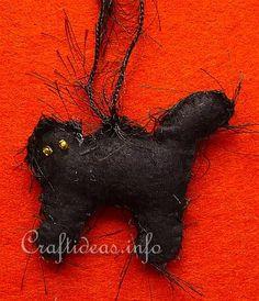 Felt black cat ornament cats christmas holiday christmas tree noel navidad http://www.meowganizer.com