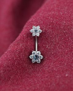 belly button ring belly ring unique triangle by TingTingStory