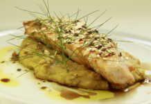 Receita de hoje: Peixe com alho-poró crocante e purê de banana