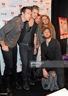 Zach Filkins, Ryan Tedder, Eddie Fisher, Drew Brown and Brent Kutzle from the band, One Republic, attend the Backstage Creations Celebrity Retreat at the 2011 Billboard Music Awards at MGM Grand Garden Arena on May 22, 2011 in Las Vegas, Nevada.