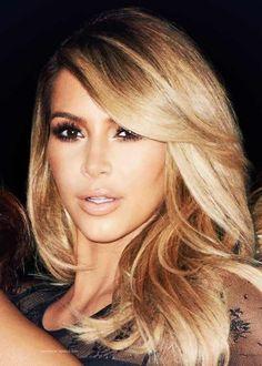 Kim Kardashian - love this hair color