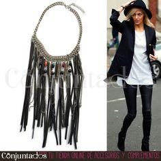 Nuestro #collar Iowa de estilo indio es un fabuloso y original #accesorio de #estilo #étnico que combina con multitud de tonos y da un toque #boho único a tu #look. ¡Los #flecos siguen arrasando! ★ Precio: 19,95 € en http://www.conjuntados.com/es/collar-iowa-de-estilo-indio.html ★ #novedades #necklace #joyitas #jewelry #bisutería #bijoux #fashion #complementos #moda #style #christmasgifts #regalos #comprasnavidad #detalles #regalosnavidad #detallesquemolan #GustosParaTodas