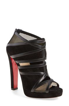 CHRISTIAN LOUBOUTIN 'Cammandanta' Open Toe Platform Sandal. #christianlouboutin #shoes #sandals