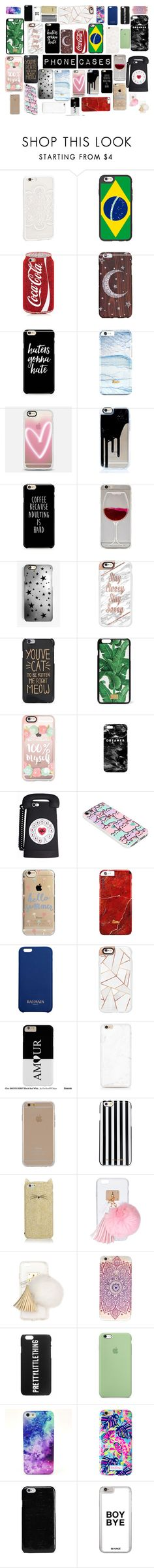 """Iphone cases"" by officialajaxxx ❤ liked on Polyvore featuring JFR, Casetify, Wet Seal, Rianna Phillips, Dolce&Gabbana, Mr. Gugu & Miss Go, Pusheen, Agent 18, Balmain and MICHAEL Michael Kors"