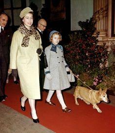 Queen Elizabeth and Princess Anne, 1958