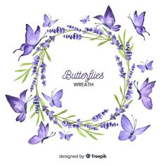 Discover thousands of free-copyright vectors on Freepik Butterfly Watercolor, Wreath Watercolor, Butterfly Logo, Floral Watercolor, Cherry Blossom Background, Butterfly Background, Romantic Flowers, Vintage Flowers, Floral Frames