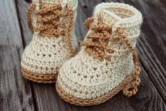 """Crochet PATTERN Baby Boys Booty """"Combat"""" Boot Crochet Pattern Beige Crochet Baby Booties street shoes PATTERN ONLY Inventorium 5.50 USD October 16 2015 at 11:02AM"""