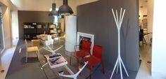 A new shop window @ Alias SHOP (Corso Monforte 19, #Milano)  #design #interiordesign #chairs #tables #bookshelf #standcoat