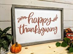 "Are you looking for a sturdy built ""Happy Thanksgiving"" wood sign for your fall front porch or dining room? My shop is your final stop for all your Thanksgiving sign needs! Celebrate Thanksgiving by gathering with your family and friends. Fall Wood Signs, Fall Signs, Happy Thanksgiving Sign, Thanksgiving Ideas, Thanksgiving Decorations, Holiday Ideas, Wall Murals Bedroom, Bedroom Decor, Fixer Upper Decor"