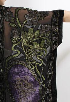 Velvet fabric details
