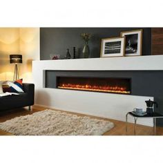Browse full range of Electric fires and surrounds. Electric fires available with LED light and remote control. Wall Hung Electric Fires, Inset Electric Fires, Stove Fireplace, Fireplace Design, Basement Fireplace, Linear Fireplace, Fireplace Wall, Wall Fires, Piece A Vivre