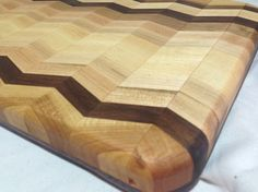"""Frank Costello's words """"You can learn a lot, watching things eat"""" comes only because of Italian Pizza and the funniest fact is the name of it - """"Capo di tutti capi"""". End Grain Cutting Board, Butcher Block Cutting Board, Cutting Boards, Chevron, Pattern Cutting, Herringbone Pattern, Wood Crafts, Woodworking Projects, Repurposed"""
