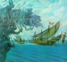 The Fleet of Harad - Darrell Sweet