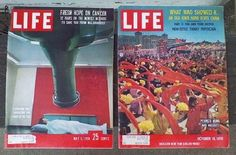 Life Magazine Oct 19 1959 May 5 1958 Many Great Ads Soda Car Cigarette