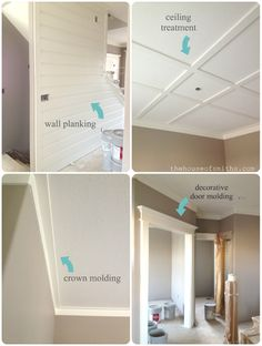 DIY Blogger House Update and Inspiration....crown molding...nice and simple :)