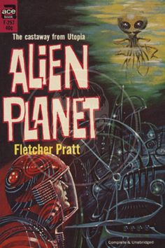 Alien Planet - 10x15 Giclée Canvas Print of a Vintage Pulp Paperback Cover
