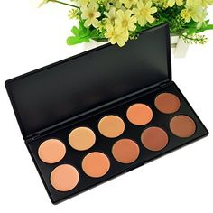 Hmxpls 10 colors Professional Camouflage Concealer Palette Makeup Contour Face Contouring Kit ** You can get more details by clicking on the image.
