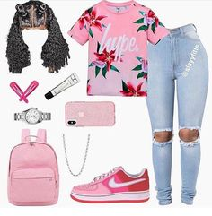 Cute outfits for school, college outfits, outfits for teens, chill Swag Outfits For Girls, Cute Teen Outfits, Teenage Girl Outfits, Cute Outfits For School, Teen Fashion Outfits, Dope Outfits, Trendy Outfits, College Outfits, Baddie Outfits Casual