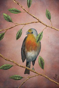 Ivan Pili - Uccellino - Acrilico su tela - Dim. 30 x 40   http://www.pitturiamo.it/quadro_natura_Uccellino+2_38602_3993.asp