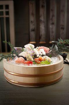 """ Assorted-Sashimi "" You could basically enjoy group of slice of a raw fish which is seasonally good. Japanese Dishes, Japanese Food, Japanese Desserts, Sashimi Sushi, Tempura Sushi, Mezze, Best Appetizers, Bento, Fun Desserts"
