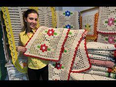 Jogos de Tapetes de Crochê para Cozinha - YouTube Crochet Doilies, Projects To Try, Blanket, Pattern, Youtube, Crochet Dishcloths, Crochet Edgings, Spirals, Tejidos