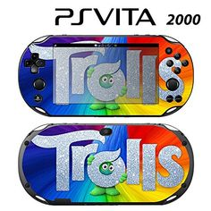Decorative Video Game Skin Decal Cover Sticker for Sony PlayStation PS Vita Slim - Trolls Playstation Vita Slim, Playstation Games, Video Game Console, Ps, Sony, Decal, Stickers, Amazon, Cover