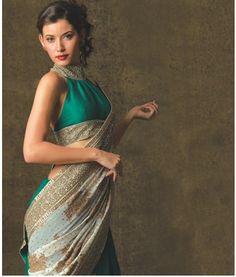 Dramatic Saree Blouse designs saree blouse design designer saree