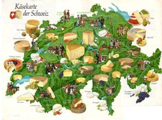 The Swiss love their cheese! So much so that every region of the country has its own distinct type of cheese.