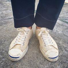 "50 Likes, 1 Comments - SHUNSUKE YAMAMOTO(22) (@shunsuke_738) on Instagram: ""コンバース社じゃない時の60sのジャックパーセル👟とtukiのパンツ👖  #jackpurcell #ジャックパーセル #60s #bfgoodrich #vintage #ヴィンテージ #tuki…"""