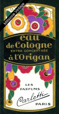 French Perfume Label Art Deco Antique Paper Cologne Soap Paris Marseille  France  4a8ad7ff03
