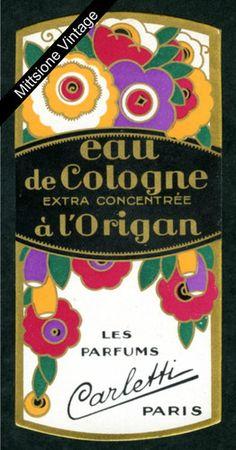 French Perfume Label Art Deco Antique Paper Cologne Soap Paris Marseille France   eBay