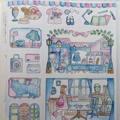 いいね!49件、コメント1件 ― @acolouringcatのInstagramアカウント: 「From: #憧れのお店屋さん Colouring Book (Amazon Japan) / Used: Water Soluble #Colouring Pencils.…」