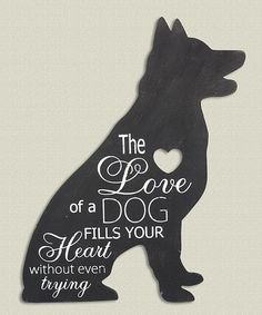 Look at this 'Love of a Dog' Wall Sign on #zulily today!
