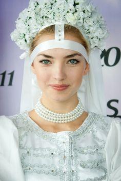 slovak bride in a folk dress