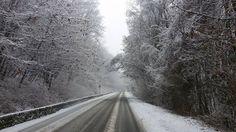 Prima neve come si deve sul #Vergante: qui la strada tra Dagnente e Ghevio ( #Meina #Novara #Piedmont #Italy )
