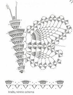 Free Crochet Butterfly Patterns - Her Crochet Crochet Motifs, Crochet Mandala, Freeform Crochet, Crochet Diagram, Crochet Stitches Patterns, Crochet Squares, Thread Crochet, Filet Crochet, Crochet Doilies