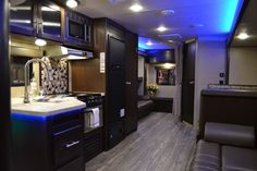 2017 Grey Wolf 27DBS Travel Trailer with Bunk Room    Grey Wolf 27DBS is large enough to accommodate the entire crew! The main bedroom has a Queen sized bed with overhead cabinets and mirrored hanging wardrobes on either side. The bathroom has a tub/shower, a toilet and a sink with a vanity/medicine cabinet. The second entry/exit door is located in the bathroom as well which helps to cut back on unnecessary traffic through your unit.