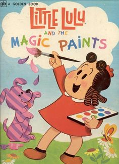 LITTLE LULU and the Magic Paints  - Little Golden Book