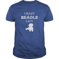 Beagle Tshirt  Crazy Beagle lady