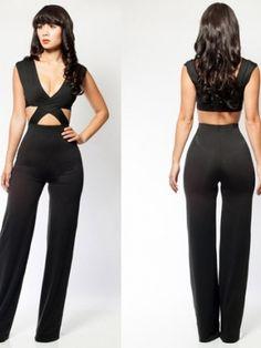 Black Pants Jumpsuit | Fabulous on Peachtree Promo Code: NICE2016