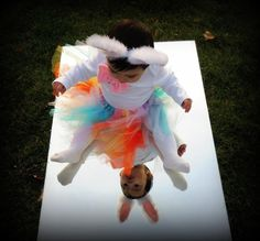 Baby easter photography ideas mirror