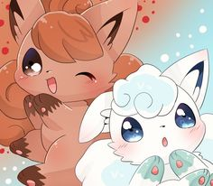 Extremely Cute Vulpix and Alolan Vulpix
