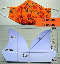 Más Moldes para máscaras cubrebocas DIY en Trucos Trucos #Costura #Moldes #Cubrebocas Sewing Hacks, Sewing Crafts, Sewing Projects, Felt Crafts Patterns, Sewing Patterns, Sewing For Beginners Tutorials, Pattern Drafting, Fashion Face Mask, Learn To Sew