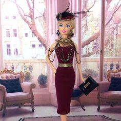 #handmade #barbiedoll #dress
