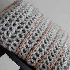Haak & Maak: Zachte plaid - een snelle manier om een leuke deken te haken - gratis patroon / free pattern in Dutch