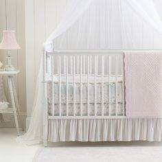 Coral And White Custom Crib Bedding Set YOU DESIGN Coral And White